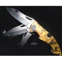 Couteau de poche MULTILAMES - camouflage