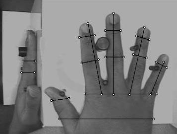 Caractérisation de la géométrie d'une main en 3 dimensions